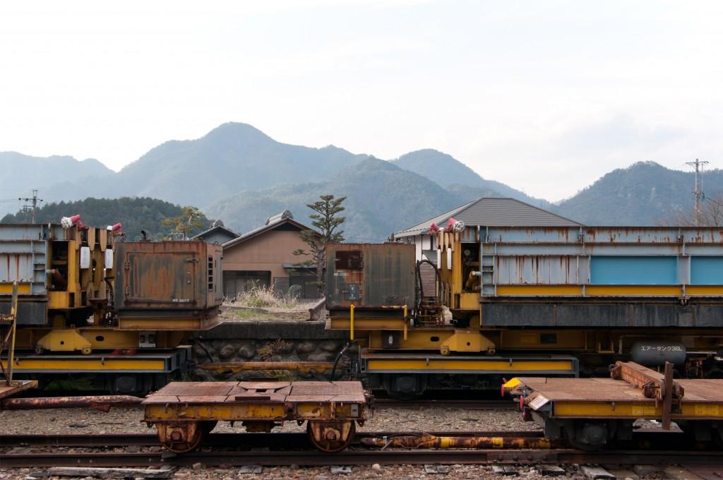 a freight car|岐阜県美濃市